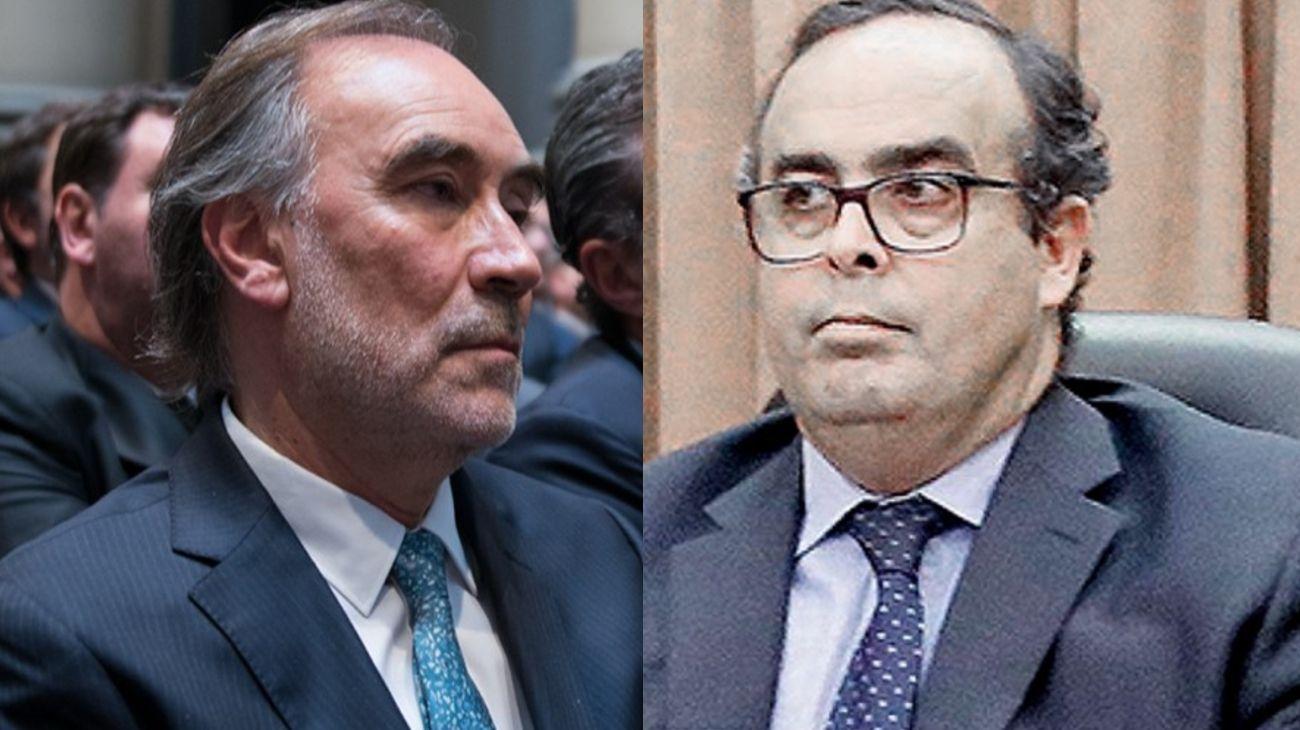 Los jueces de la Cámara de Apelaciones, Leopoldo Bruglia y Pablo Bertuzzi