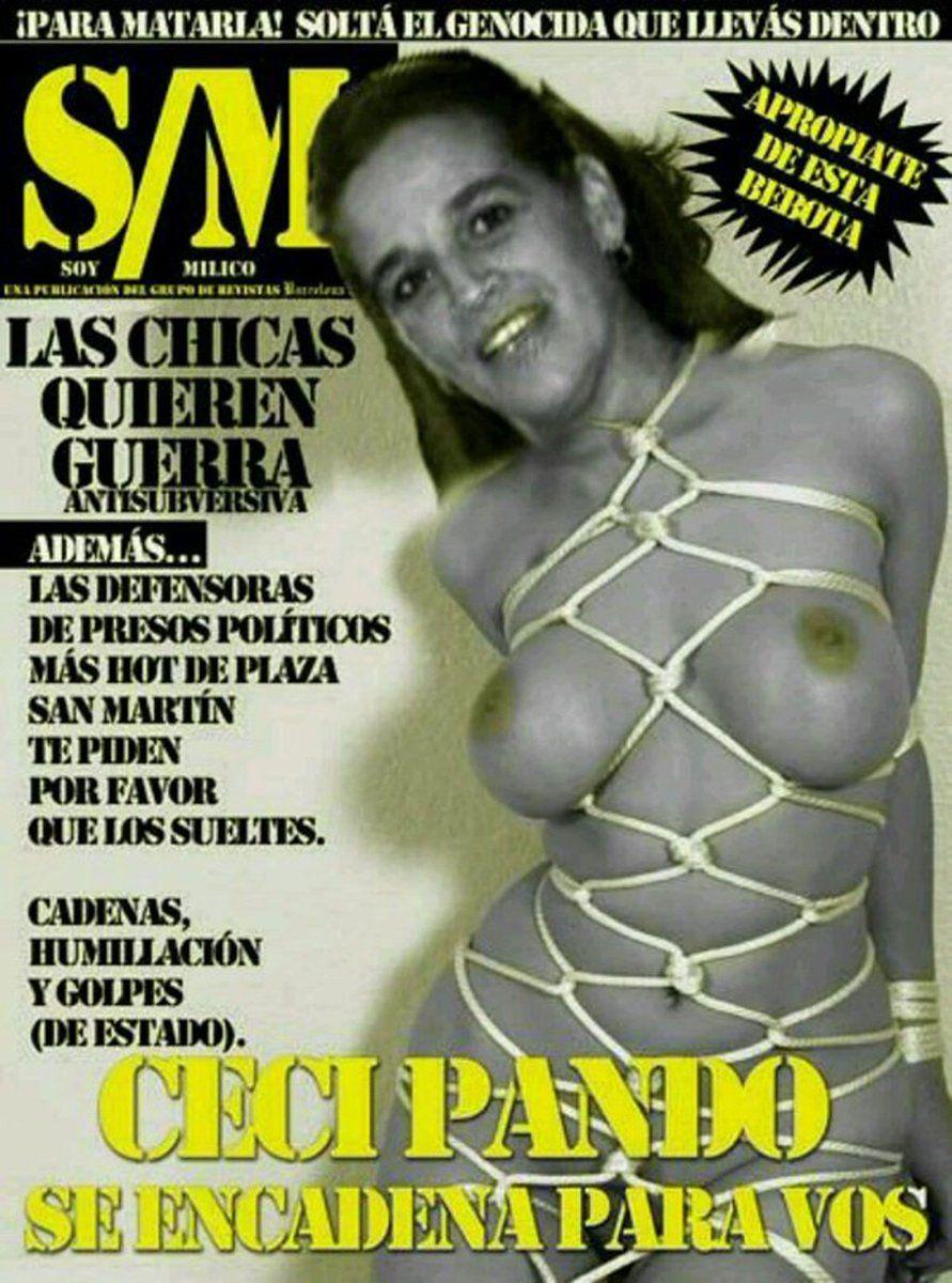 La tapa de la Revista Barcelona que derivó en la demanda de Cecilia Pando, luego rechazada por la Corte Suprema.