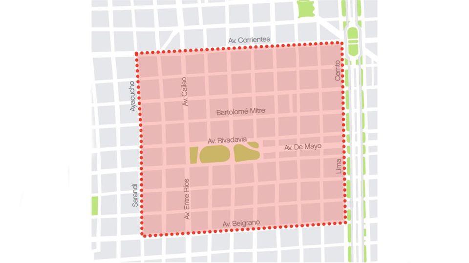 Mapa cortes manifestacion 20201228