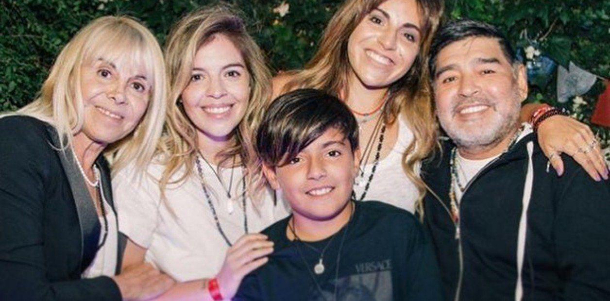 El significativo tatuaje que compartían Diego Maradona, Claudia Villafañe y sus hijas Dalma y Gianinna