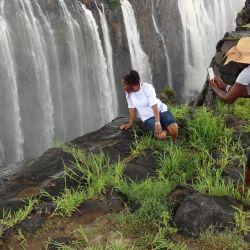 Las Cataratas Victoria tienen una menor aglomeración de visitantes que las Cataratas del Iguazú. Foto: Andreas Drouve/dpa