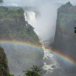 Las Cataratas Victoria se encuentran en el límite entre Zimbabue y Zambia. Foto: Andreas Drouve/dpa