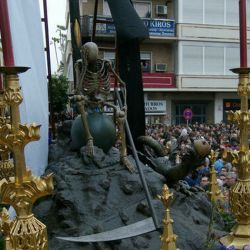 Las precesiones religiosas de Semana Santa quedaron suspendidas en Sevilla por el coronavirus.