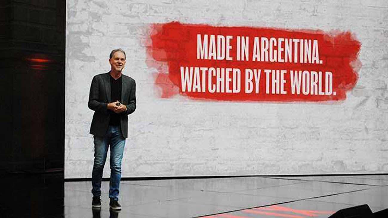 Reed Hasting en su paso por Argentina en febrero del 2020.