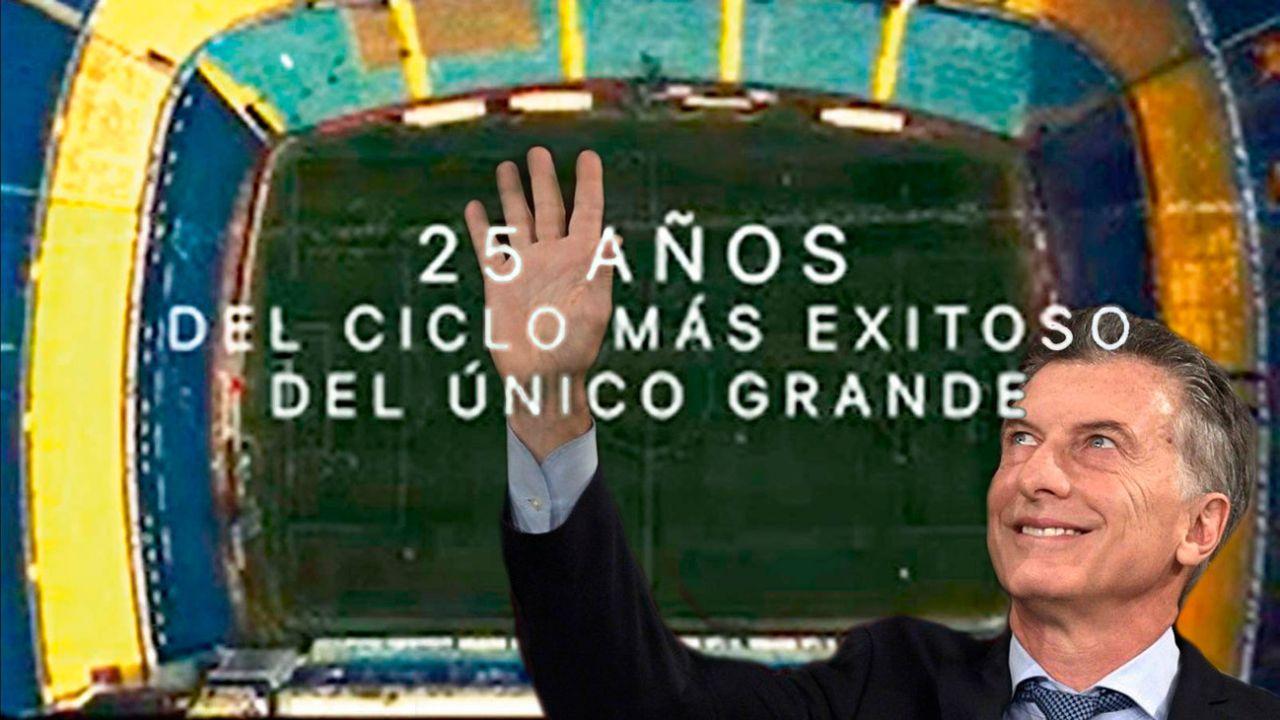 Mauricio Macri - Estadio de Boca | Foto:Montaje