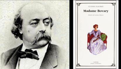 Gustave Flaubert y su libro Madame Bovary, publicado originalmente en 1857.