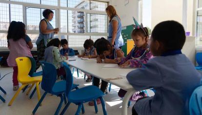 Sala de jardín de infantes de la ciudad