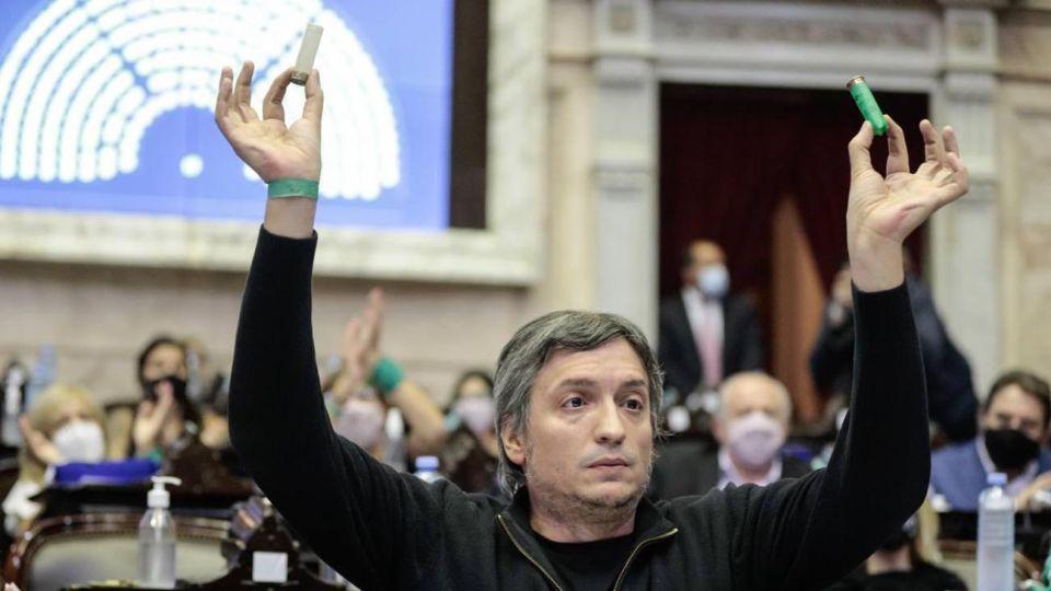 Máximo Kirchner, diputado nacional del Frente de Todos