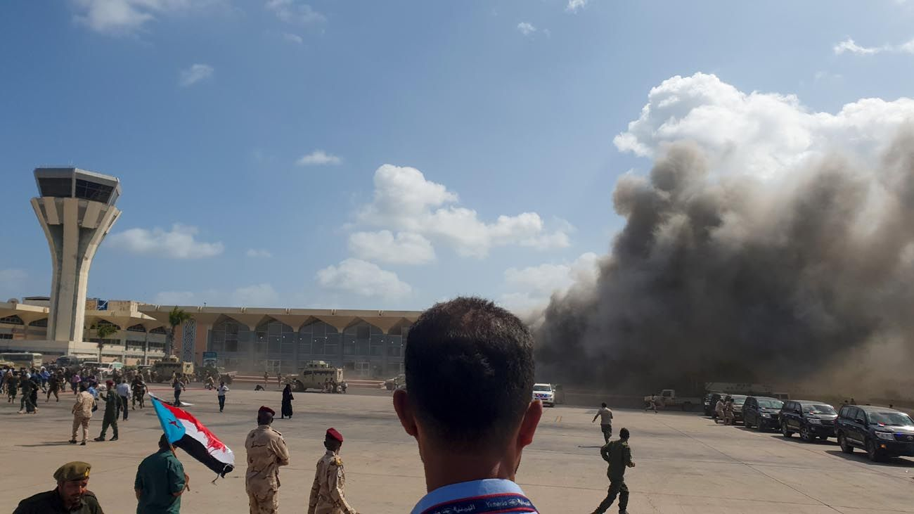 Ataque a avión en Yemen