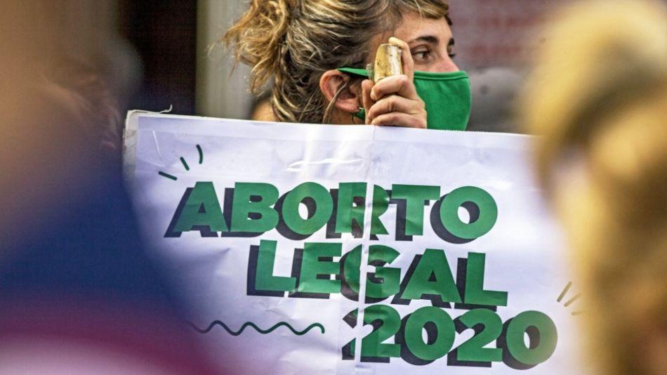 Movilización en favor del aborto en el Congreso.