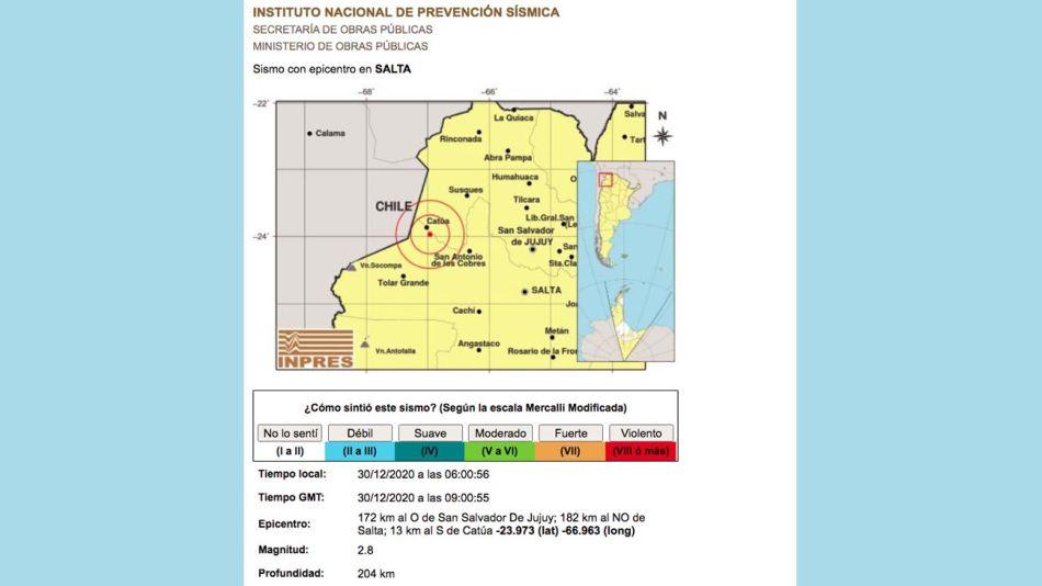 sismo en salta 20201230