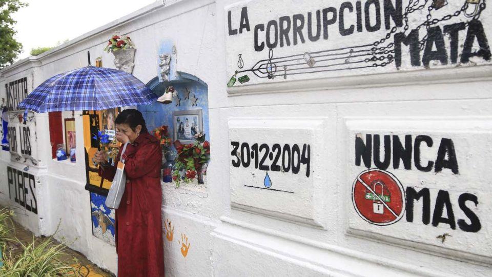 Homenaje a las victimas en el boliche Cromañon.