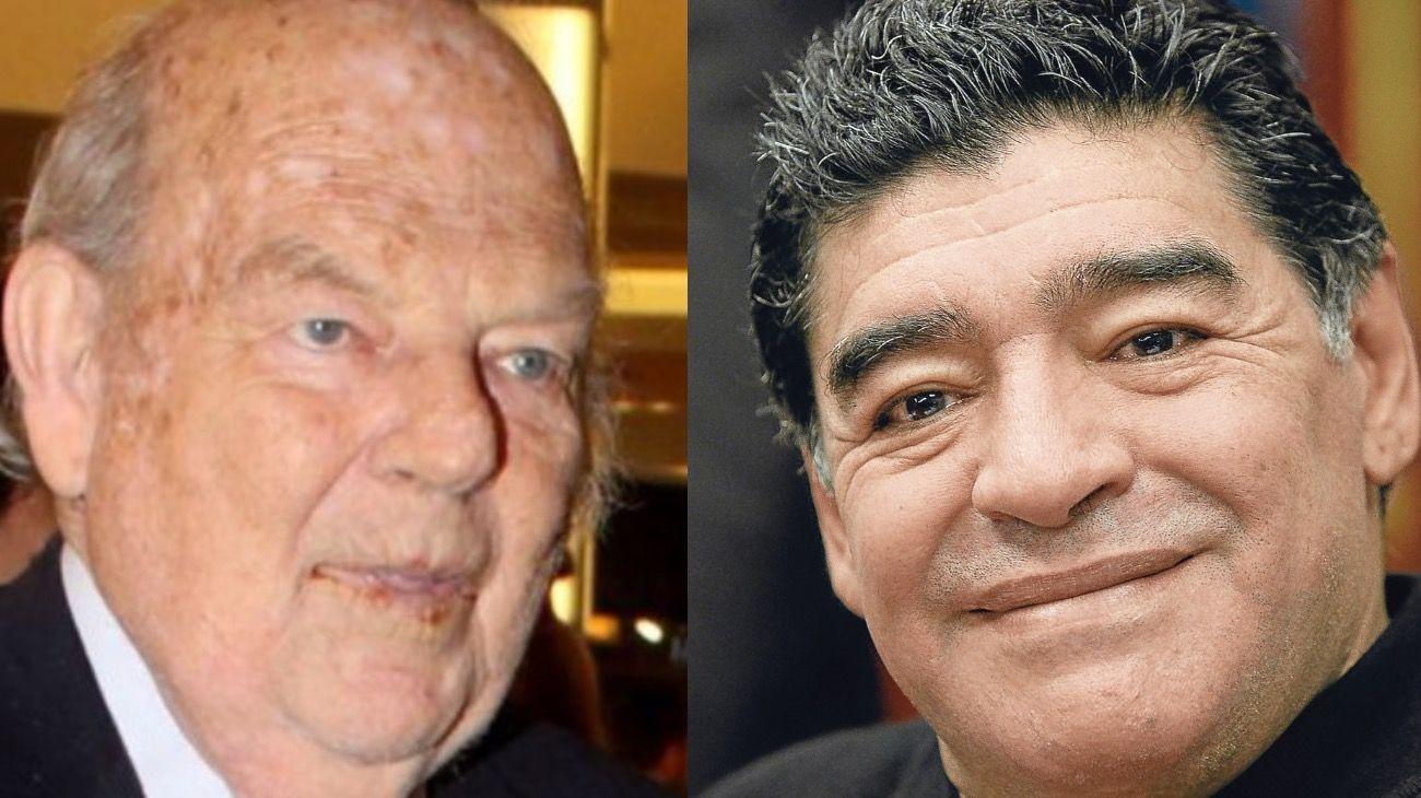 Bartolome Mitre y Diego Maradona.