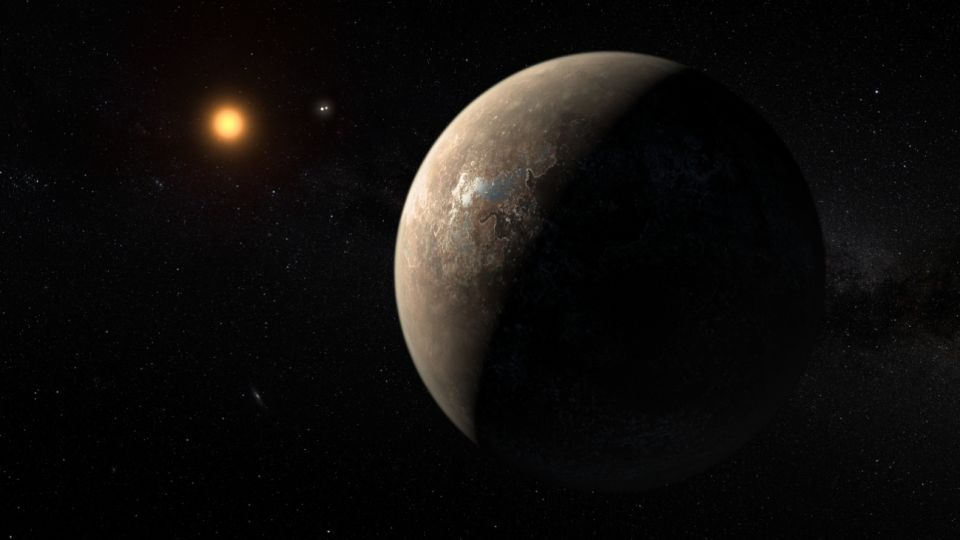 La estrella enana roja, Próxima Centauri