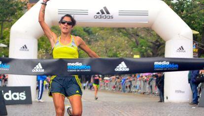 Olímpica. La atleta riocuartense clasificó en el puesto 110 y fue la mejor representante argentina en la maratón de Río de Janeiro 2016.