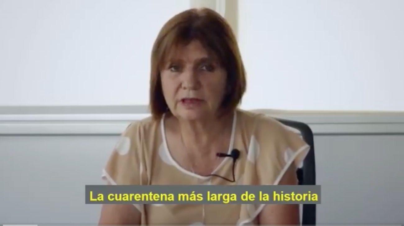 La presidenta del PRO, Patricia Bullrich.