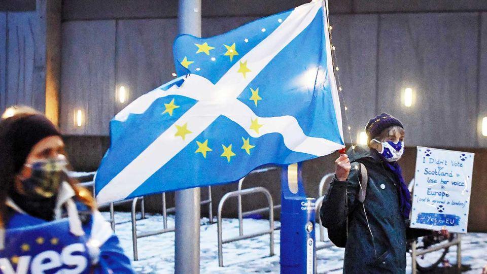 Reclamo. Los independentistas piden otro referéndum.