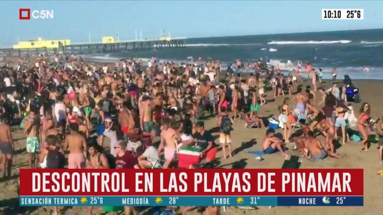 Las playas de Pinamar durante el último fin de semana.  | Foto:CEDOC