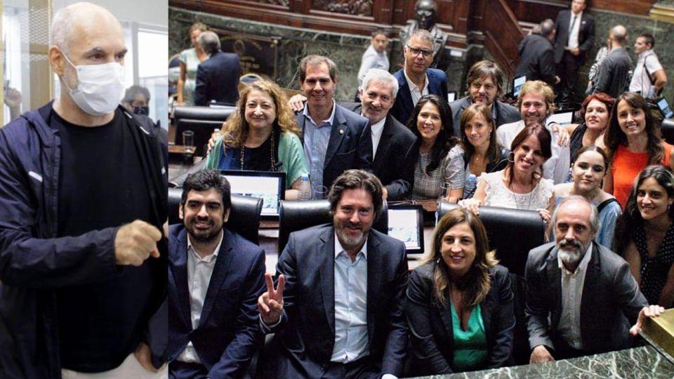 Hoario Rodríguez Larreta y Legisladores del Frente de Todos