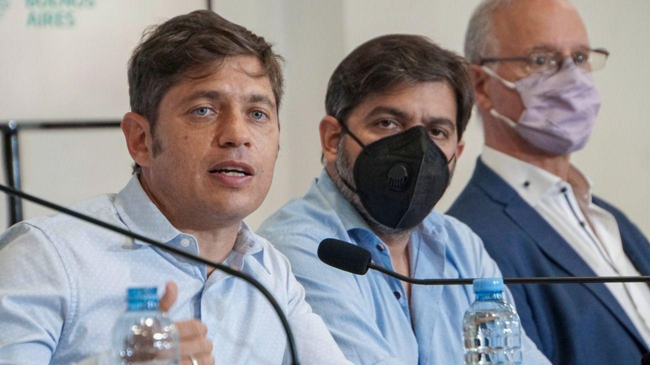 Axel Kicillof encabezó la conferencia frente al aumento de casos de Covid-19.