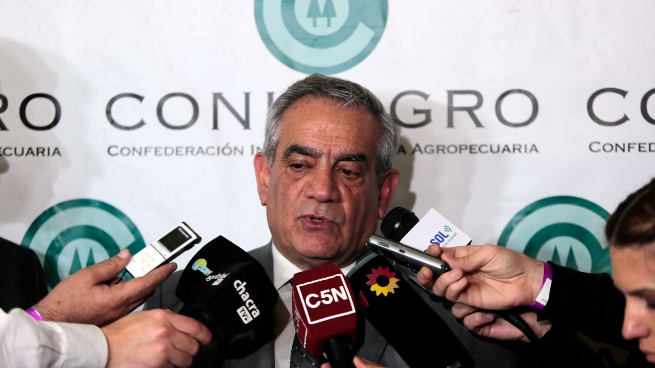 El presidente de Coninagro, Carlos Iannizzotto.