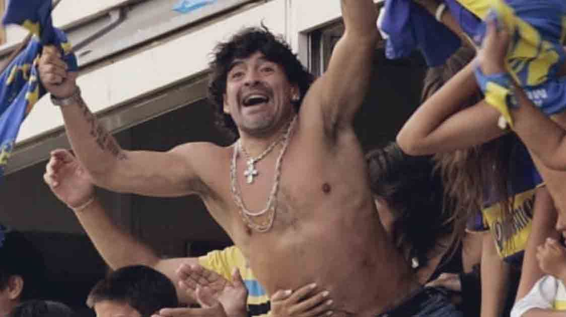 Gianinna Maradona compartió imágenes de Diego Maradona en la Bombonera.