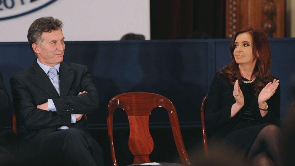Mauricio Macri y Cristina Fernández