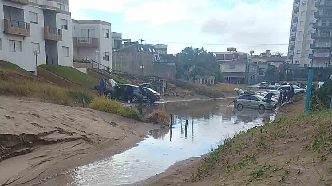Villa Gesell, tras el meteorológico por tormentas fuertes en la costa.