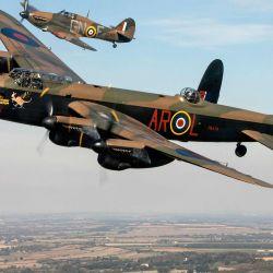 El Avro Lancaster medía 21,18 metros y su envergadura era de 31,09 metros.