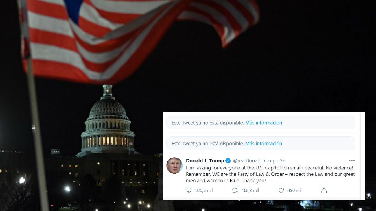 Twitter y Facebook toman medidas contra Trump tras la violencia del Capitolio