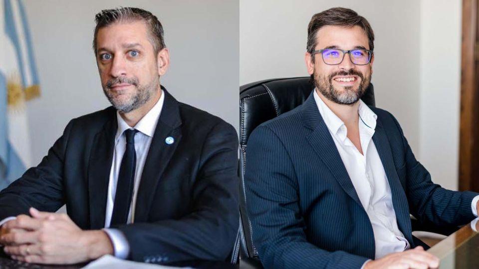 Mariano Sardi y Fernando Morra, en el Ministerio Economía