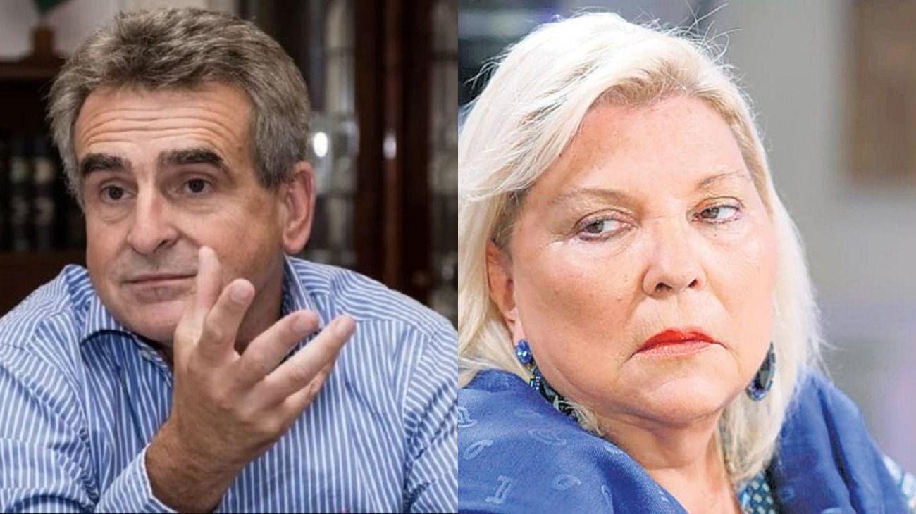 Agustín Rossi y Elisa Carrió