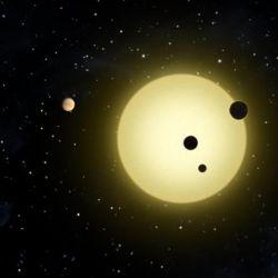 El planeta más cercano a HD 158259 tiene, aproximadamente, el doble de la masa de la Tierra.