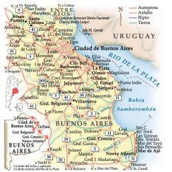 Mapa de los recorridos.