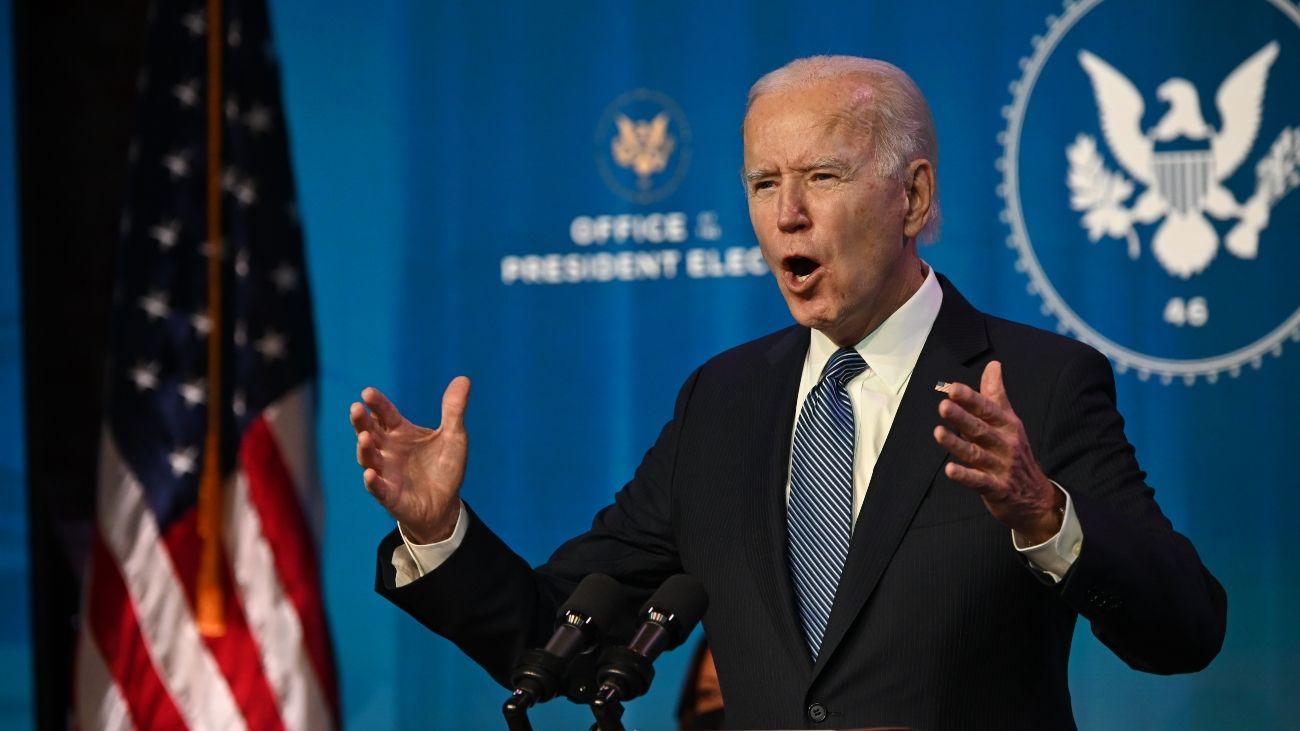 Declaración de Joe Biden, un día después del asalto al Capitolio.