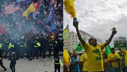 Trump y Bolsonaro tienen seguidores fanatizados y violentos.