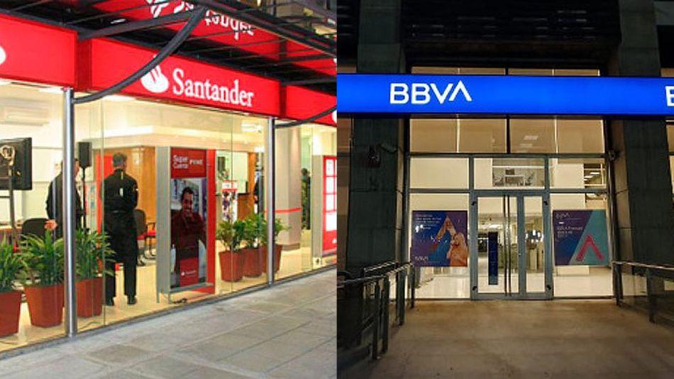 Bancos Santander y BBVA 20210107
