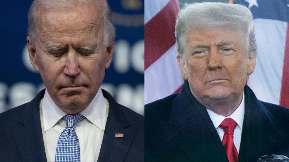 Joe Biden y Donald Trump 20210107