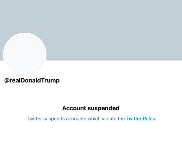 Twitter cerró la cuenta de Trump.