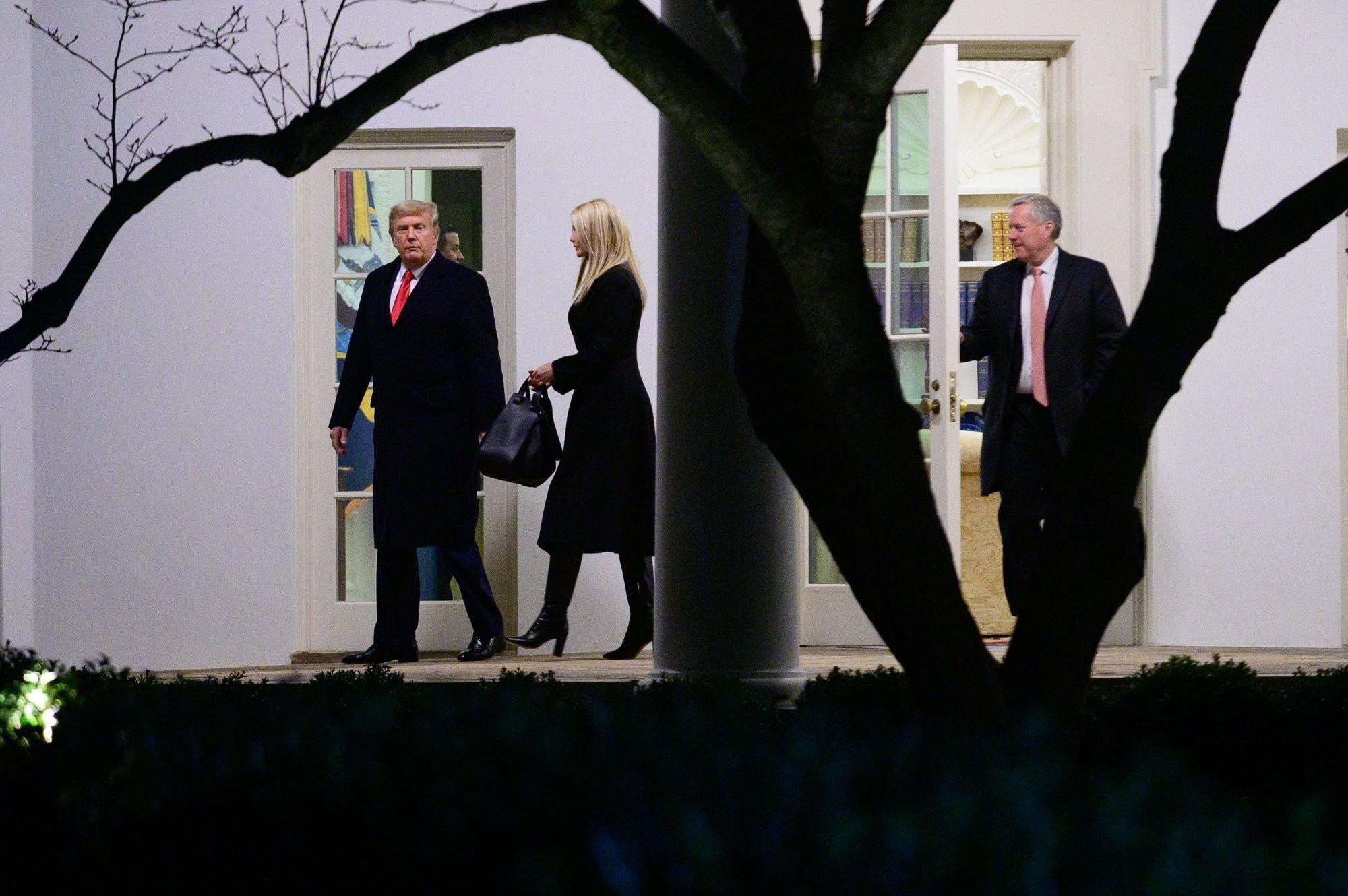 President Trump Departs White House For Georgia