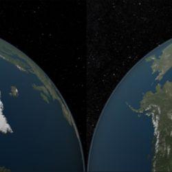 Las imágenes muestran el área cubierta de hielo en el océano Ártico en 1984 y en 2012.