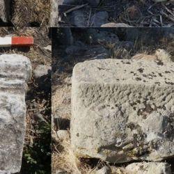 Los arqueólogos encontraron una estatua de una mujer en el suelo y una cabeza femenina de terracota.