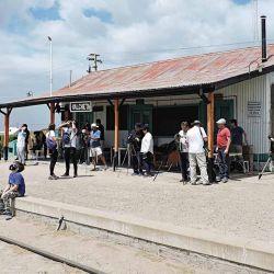 Estación de Valcheta, en la ruta del tren que une Viedma con Bariloche.