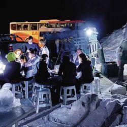 Cena en la Salina del Gualicho.