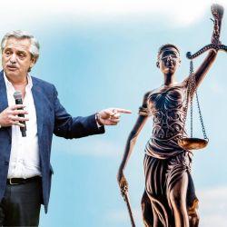 Alberto Fernández y la Justicia. | Foto:Cedoc.