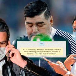 Leopoldo Luque - Diego Maradona - Agustina Cosachov   Foto:Montaje