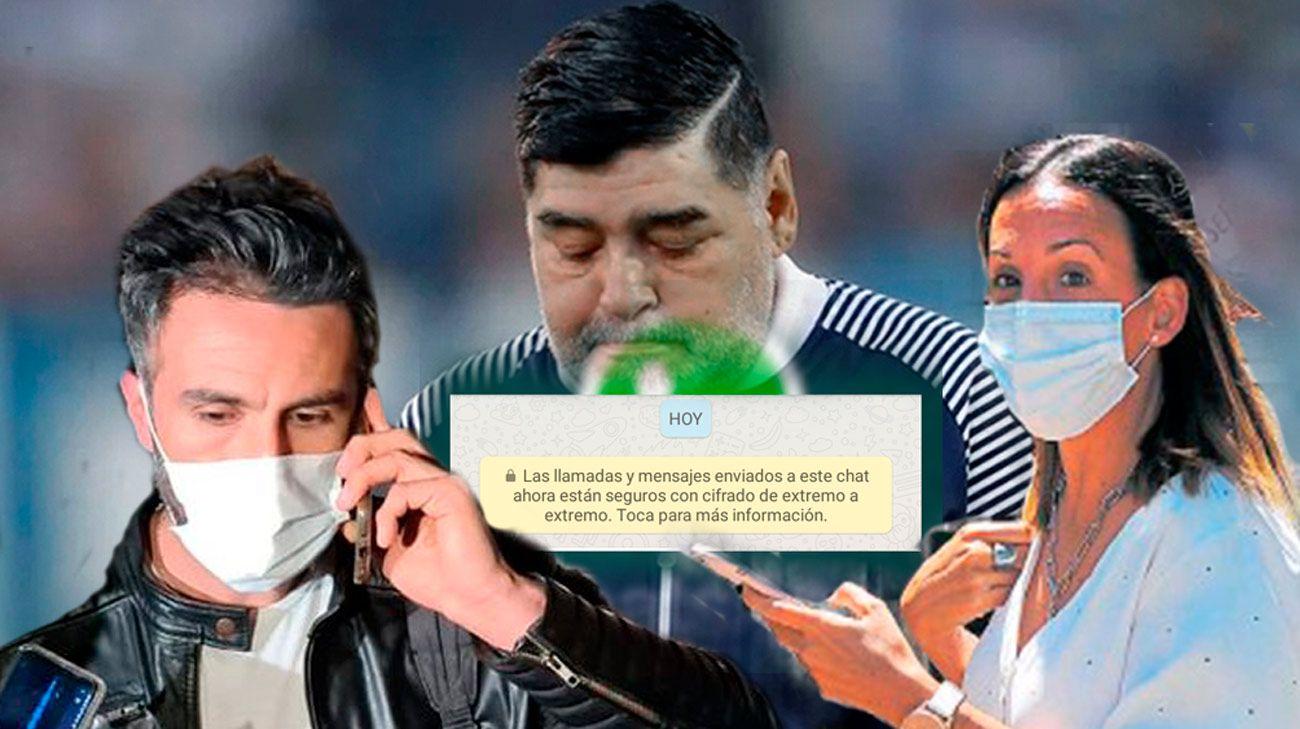 Leopoldo Luque - Diego Maradona - Agustina Cosachov