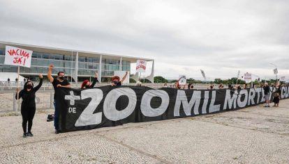 Manifestación contra el presidente Jair Bolsonaro