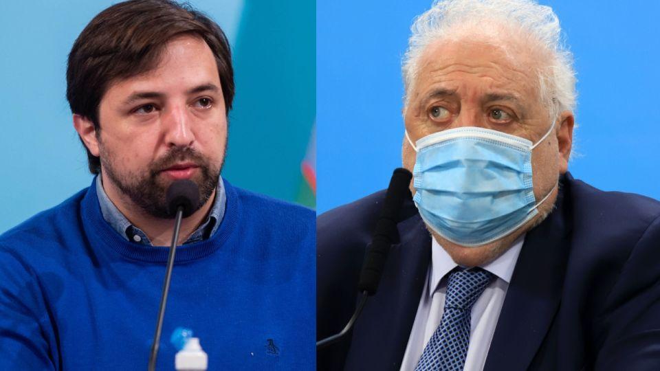 Nicolás Kreplak y Ginés González García, ministros de la cartera de salud.