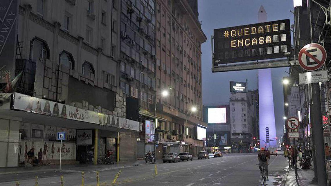 Empty city at night.